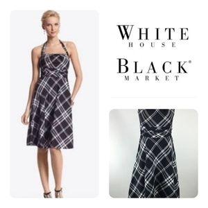 White House Black Market Plaid Sleeveless Dress